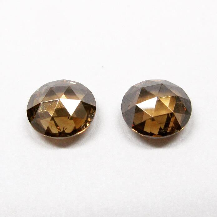 ローズカットのブラウンダイヤモンド