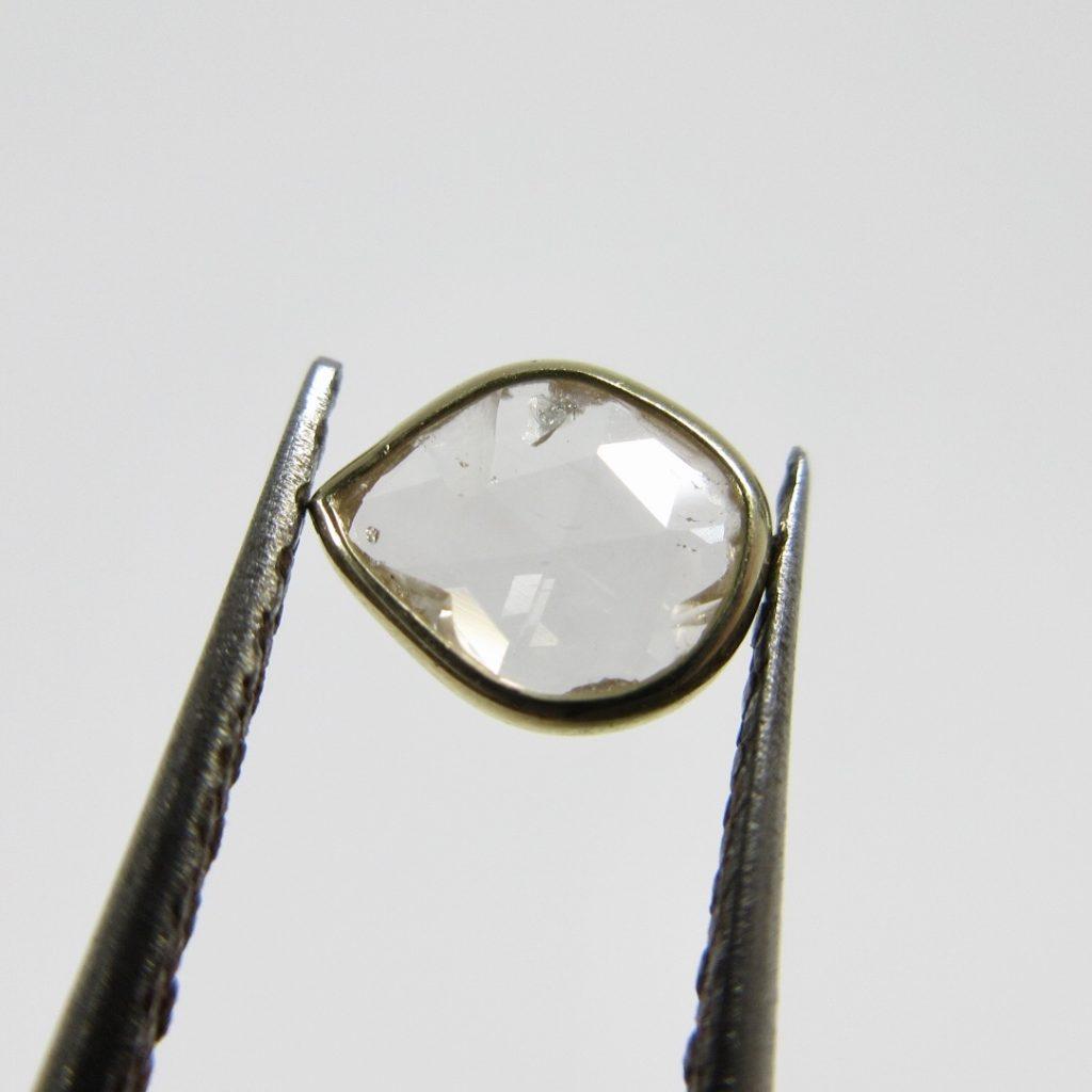 ローズカットダイヤモンド(18Kフレーム)